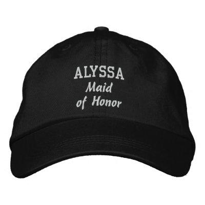 MAID OF HONOR Custom Name V02 Baseball Cap
