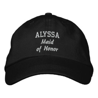MAID OF HONOR Custom Name V02 Embroidered Hats