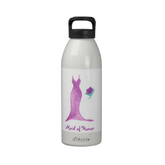 Maid of Honor Customizable Water Bottle