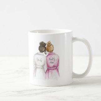 Maid of Honor? Dark Br Bun Bride Dk Bl Bun Maid Classic White Coffee Mug