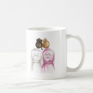 Maid of Honor? Dark Br Bun Bride Dk Bl Bun Maid Coffee Mug