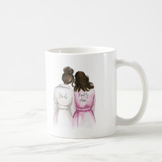 Maid of Honor? Dk Br Bun Bride Wavy Br Maid Coffee Mug