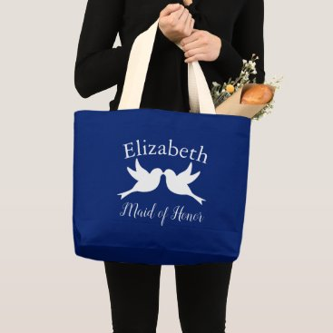 Wedding Themed Maid of Honor Doves Love Large Tote Bag