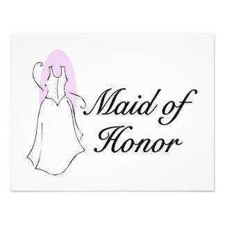 Maid Of Honor Dress Custom Invitation