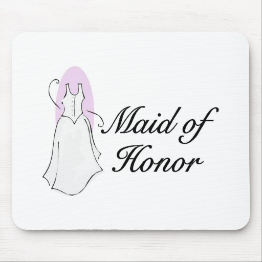 Maid Of Honor Dress Mouse Pad