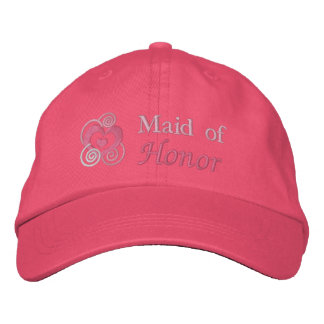 Maid Of Honor Embroidery Embroidered Baseball Cap