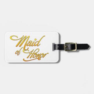 Maid Of Honor Etiquetas Bolsas