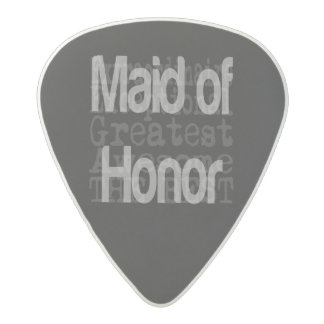 Maid of Honor Extraordinaire Acetal Guitar Pick