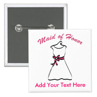 Maid of Honor Favors 2 Inch Square Button