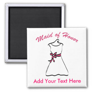 Maid of Honor Favors 2 Inch Square Magnet