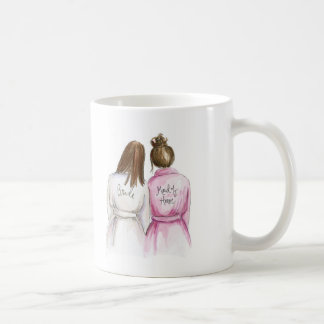 Maid of Honor Gift Brunette Bride Brunette Maid Coffee Mug