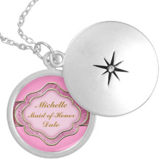 MAID of HONOR GIFT STERLING SILVER LOCKET