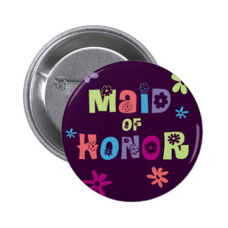 Maid of Honor Gifts and Favors 2 Inch Round Button