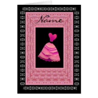 Maid of Honor Invitation PINK Dress Petal Trim