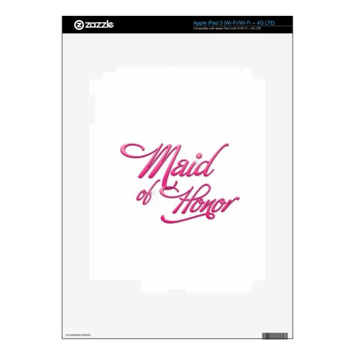 Maid Of Honor iPad 3 Pegatina Skin