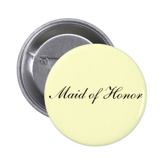 Maid of Honor Ivory Button