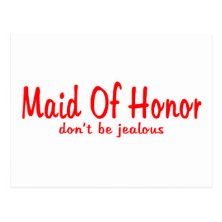 Maid Of Honor Jealousy Postcards