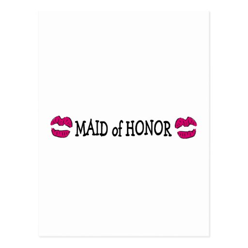 Maid of Honor Lips Postcard