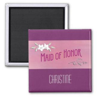Maid of Honor Magenta Magnet