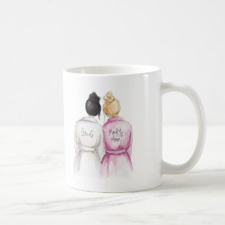 Maid of Honor? Mug Black Bun Bride Blonde Maid