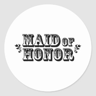 Maid of Honor - Old West Stickers