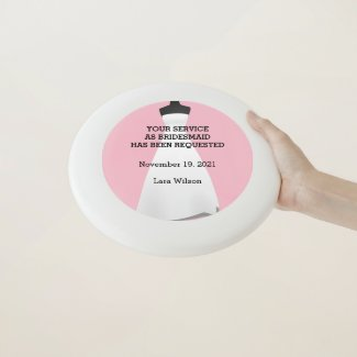 Maid of Honor or Bridesmaid Frisbee Invite