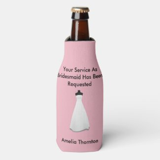 Maid of Honor or Bridesmaid Invite Bottle Cooler