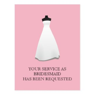 Maid of Honor or Bridesmaid Postcard Invite