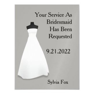 Maid of Honor or Bridesmaid Reminder Magnetic Card