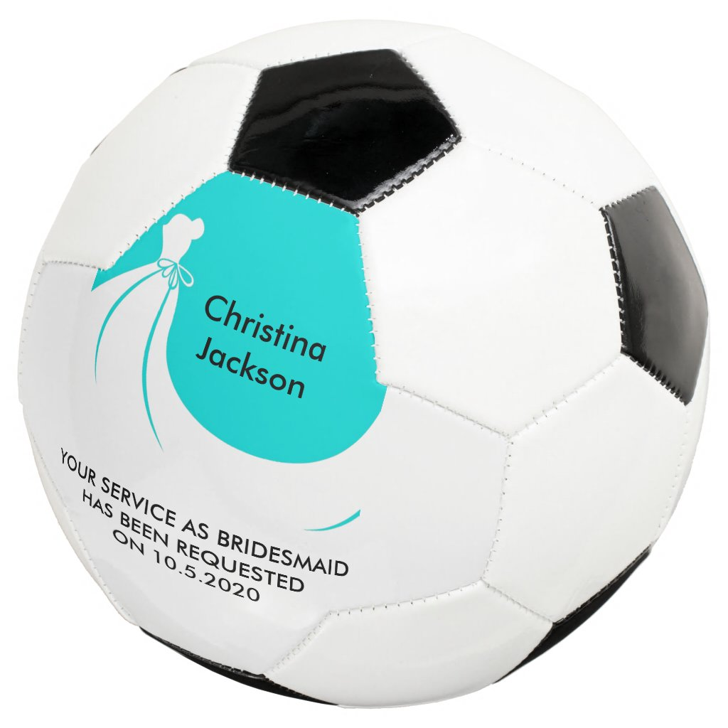 Maid of Honor or Bridesmaid Soccer Ball Invite