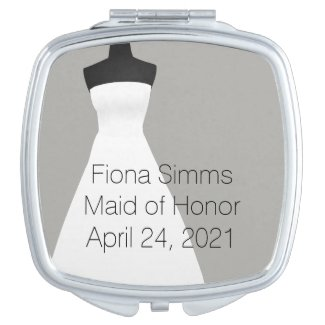 Maid of Honor or Bridesmaid's Compact Mirror