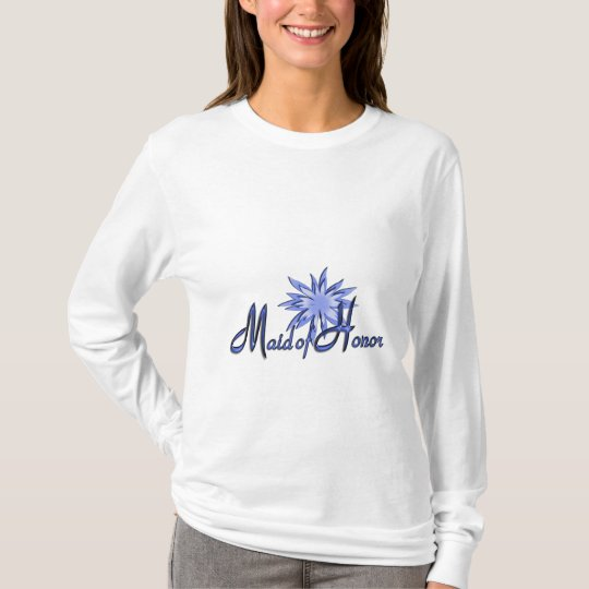 Maid of Honor Personalized Blue Long Sleeve Shirt