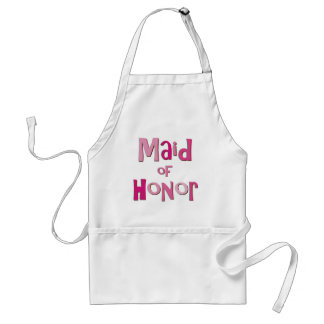 Maid of Honor Pink Brown Adult Apron