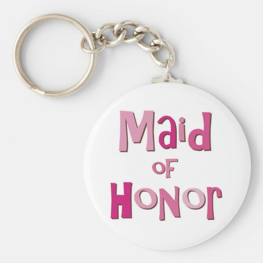 Maid of Honor Pink Brown Key Chains