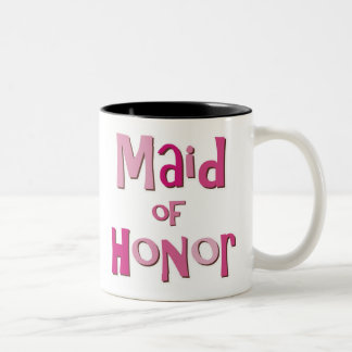 Maid of Honor Pink Brown Two-Tone Coffee Mug