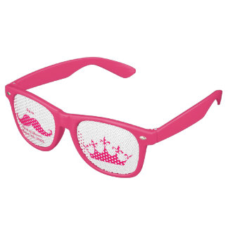 Maid of Honor Pink Mustache Party Shades Sunglasse