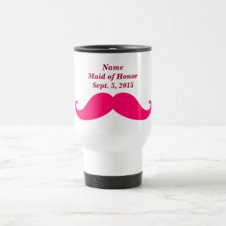 Maid of Honor Pink Mustache Travel/Commuter Mug