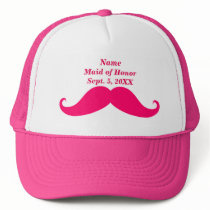 Maid of Honor Pink Mustache Trucker Hat