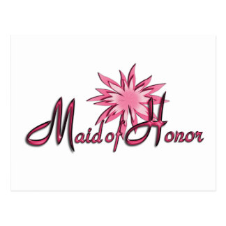 Maid of Honor Pink Postcard
