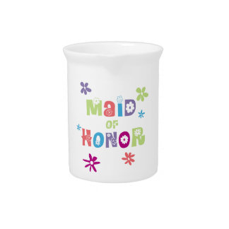 Maid of Honor Beverage Pitchers
