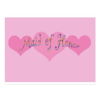 Maid of Honor Post Card