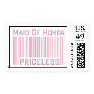 Maid of Honor Priceless Postage Stamp