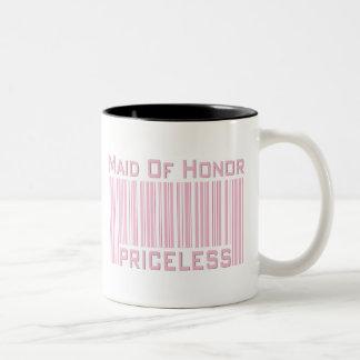 Maid of Honor Priceless Two-Tone Coffee Mug
