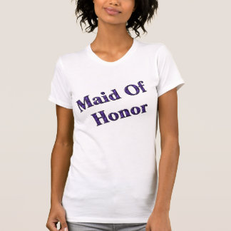 Maid Of Honor Purple Zebra Wedding Party T Shirt