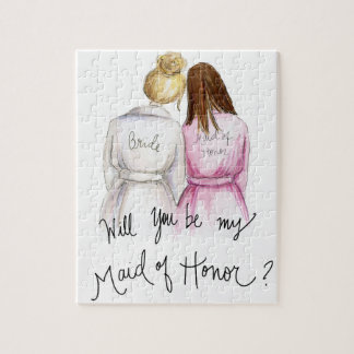 Maid of Honor? Puzzle Bl Bun Bride Br Long Maid