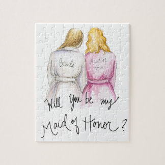 Maid of Honor? Puzzle Bl Long Bride Bl Wavy MOH