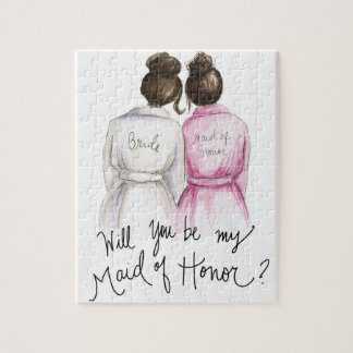 Maid of Honor? Puzzle Dk Br Bun Bride Dk Br Bun MH
