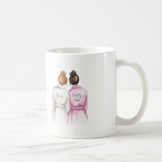 Maid of Honor? Red Bun Bride Dk Br Bun Maid Coffee Mug