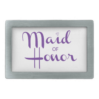 Maid of Honor Retro Script Belt Buckles