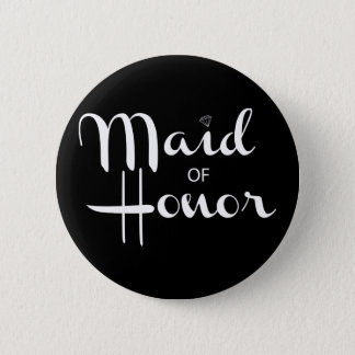 Maid of Honor Retro Script Button